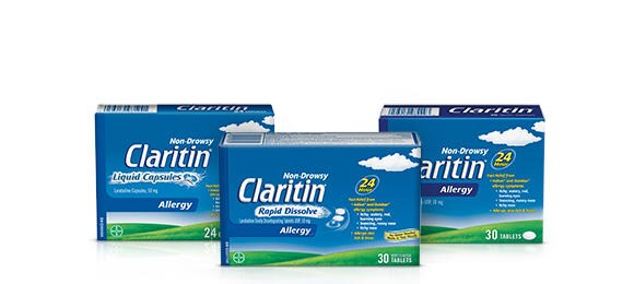 Claritin Family packshots